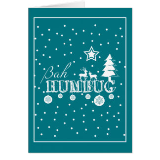 Cartão Natal da farsa de Bah