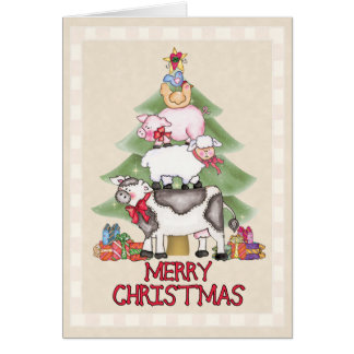 Cartão Natal da fazenda do país