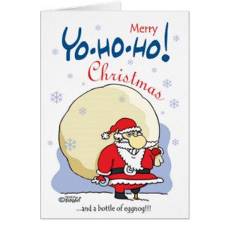 Cartão Natal da feliz Yo-ho-ho… e uma garrafa da gemada!