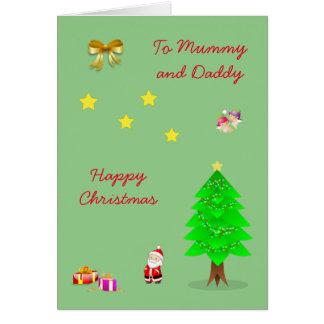 Cartão Natal da mamã e do pai