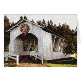 Cartão Natal da ponte coberta de Weddle