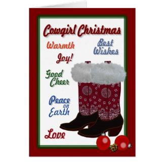 Cartão Natal da vaqueira