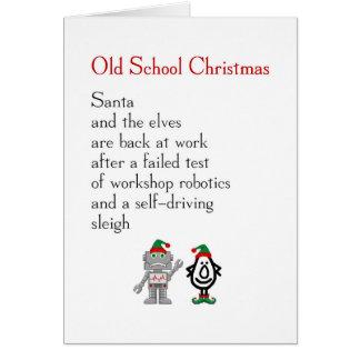 Cartão Natal da velha escola - poema engraçado do Feliz