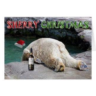 Cartão Natal da xerez