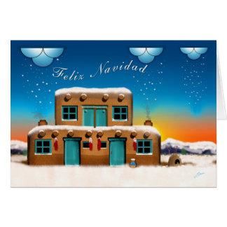 Cartão Natal das casas de Adobe