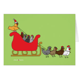Cartão Natal das galinhas