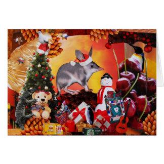 Cartão Natal de Bilby