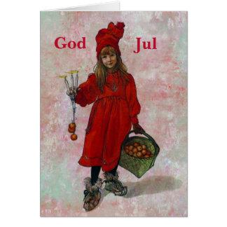 Cartão Natal de Carl Larsson