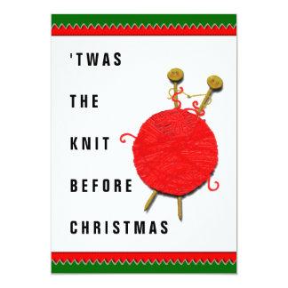 Cartão Natal de confecção de malhas