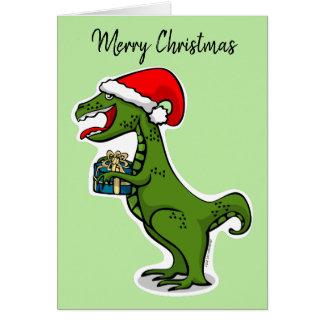 Cartão Natal de Dino T-rex