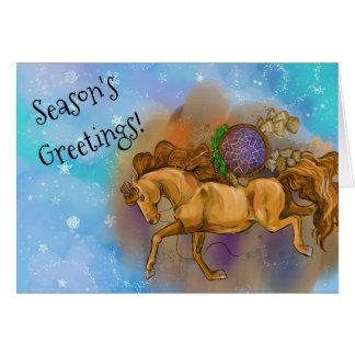 Cartão Natal de Dreamcatcher do cavalo da azeda