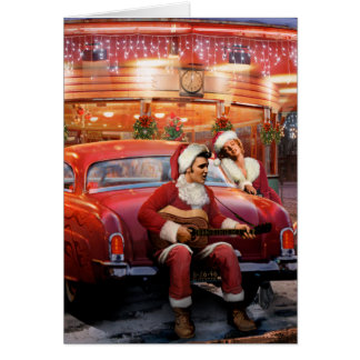 Cartão Natal de Elvis e de Marilyn
