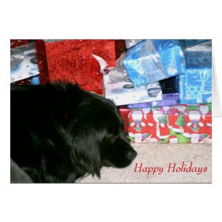 Cartão Natal de espera de Athena