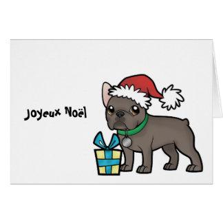 Cartão Natal de Frenchie