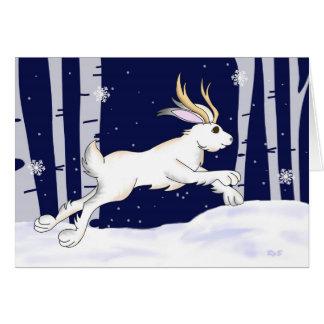 Cartão Natal de Jackalope