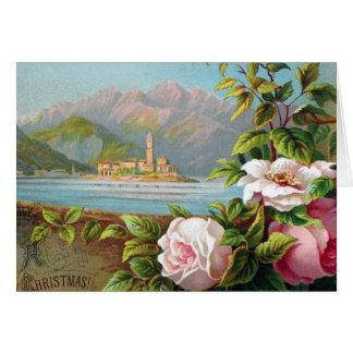 Cartão Natal de Maggiore do lago