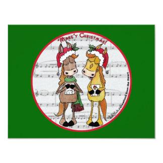 Cartão Natal de Mare'y dos cavalos de Caroling '