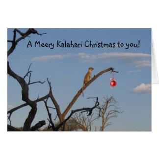 Cartão Natal de Meery Kalahari - cumprimentos de Seaons