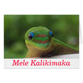 Cartão Natal de Mele Kalikimaka