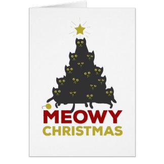 Cartão Natal de Meowy