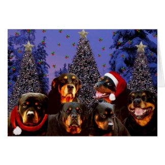 Cartão Natal de Rottweiler