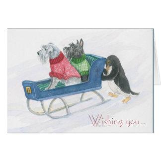 Cartão Natal de Terrier!