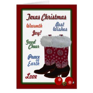Cartão Natal de Texas