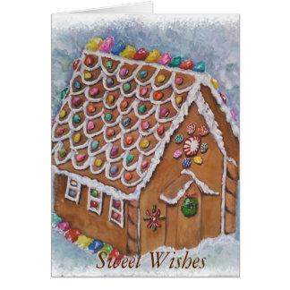 Cartão Natal delicioso do pão-de-espécie