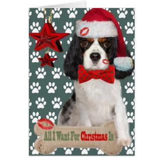 Cartão Natal descuidado do rei Charles Querer Beijo Para