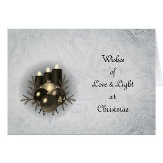Cartão Natal do amor & da luz