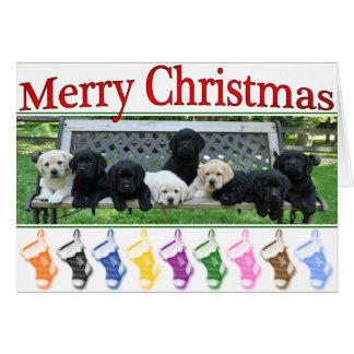 Cartão Natal do banco da honra