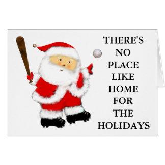 Cartão Natal do basebol