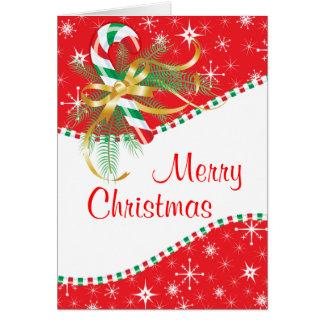 Cartão Natal do bastão de doces
