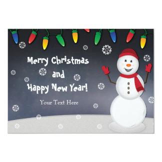 Cartão Natal do boneco de neve