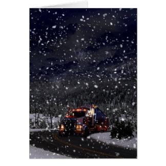 Cartão Natal do camionista