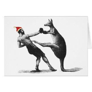Cartão Natal do canguru do encaixotamento