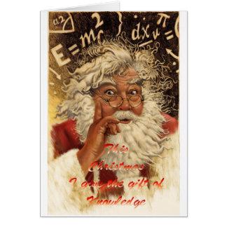 Cartão Natal do cogumelo