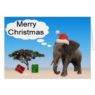 Cartão Natal do elefante