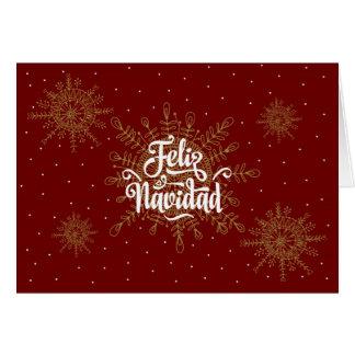 Cartão Natal do espanhol de Feliz Navidad