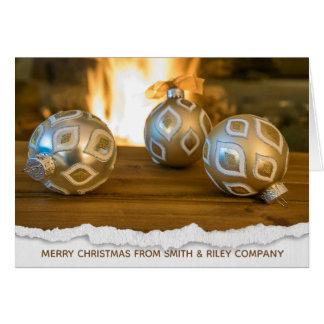 Cartão Natal do feriado do negócio