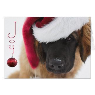 Cartão Natal do filhote de cachorro de Leonberger