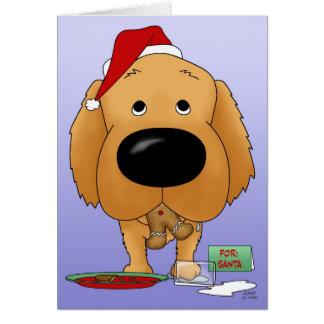 Cartão Natal do golden retriever
