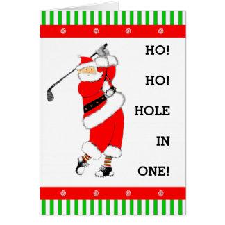 Cartão Natal do golfe