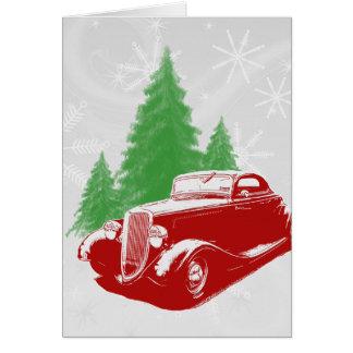 Cartão Natal do hot rod