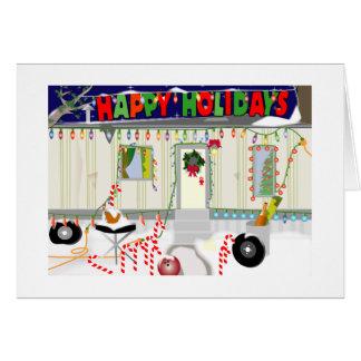 Cartão Natal do lixo do reboque