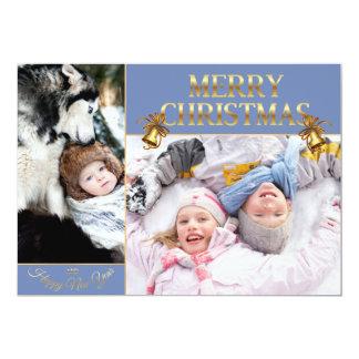 Cartão Natal do menino e da menina - menina do Natal