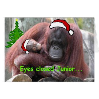Cartão Natal do orangotango