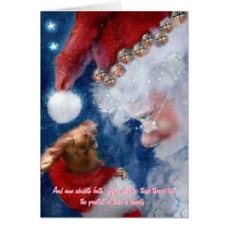 Cartão Natal do orangotango de Papai Noel