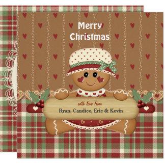 Cartão Natal do país do pão-de-espécie