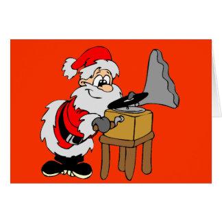 Cartão Natal do papai noel do jogador gravado